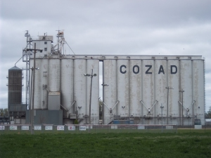Home to about 4000 people, and proudly marked on a local grain elevator---the tallest building in town...