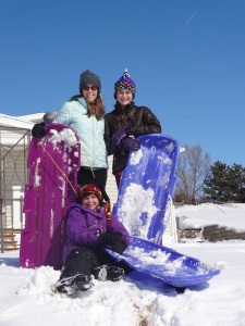 The snow was perfect for sledding and the afternoon weather was gorgeous!