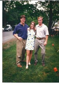 The day that I graduated from college--pictured with my husband and brother.  The next day, I began to trek from New Hampshire to Nebraska to begin a new life...