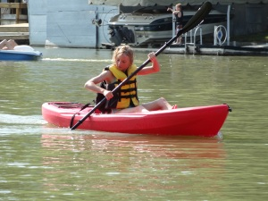 And then worked on mastering the kayak...
