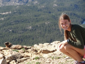 The view at 10,000 feet was gorgeous---I don't know which one of them liked it best...