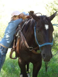 Making my favorite poetry writing / book reading teenager glad to have a horse to carry her home...