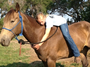 My little cowgirl loves her horse--they make great partners!