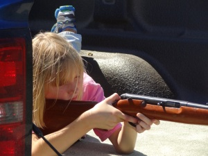 She's only 8, but will careful instruction she learns to focus and develop good skills...
