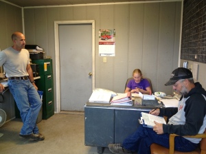 Our vet, Ryan O'hare, doing our yearly BQA training at the feed yard...