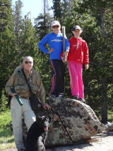 My dad (this summer) with my favorite blondes preparing to hike in the mountains in search of a beautiful trout stream...