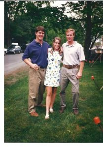 Matt and I with my brother two days before we moved back to the farm in Nebraska...