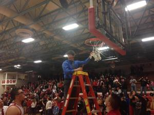 There was likely not a mother in attendance whose eyes weren't damp as Jacob cut the net...