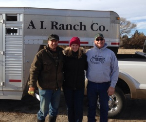 Al and his daughter, Tessa, have a ranch near Halsey, NE.  I have worked with Al for more than 10 years -- feeding his steers and the heifers that are not chosen to be kept for replacement heifers...