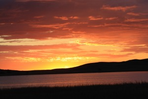 The sunrise that gave a beautiful start to my day as I traveled to the ranch...