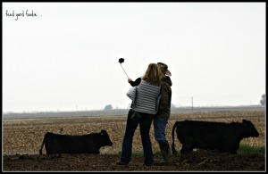 "Two enthusiastic young ranchers brought the first ""selfie stick"" to my feed yard last spring.  It was great fun to watch them *share*!"