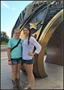 "Emily teaching Megan the tradition and meaning of the ""Aggie Ring""..."