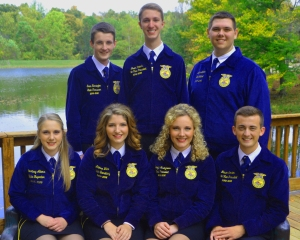 The 2016 National FFA Officer Team: Annalee is the middle young woman...