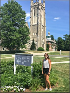 My favorite brunette enjoying the Williams College campus...