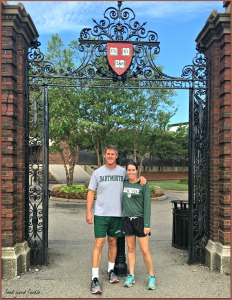 Matt and I felt the need to wear our Dartmouth shirts as we walked around Harvard's campus -- still feeling the competitive rivalry 20 years later...